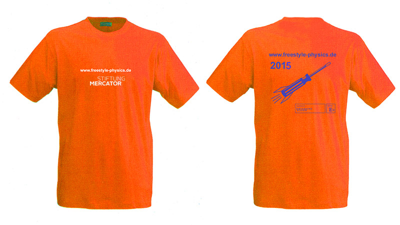 T-Shirts orange 2015_weiss